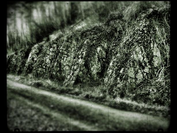 Muro blanco y negro Hierro filtro cuadrícula. Fuji feb 2016